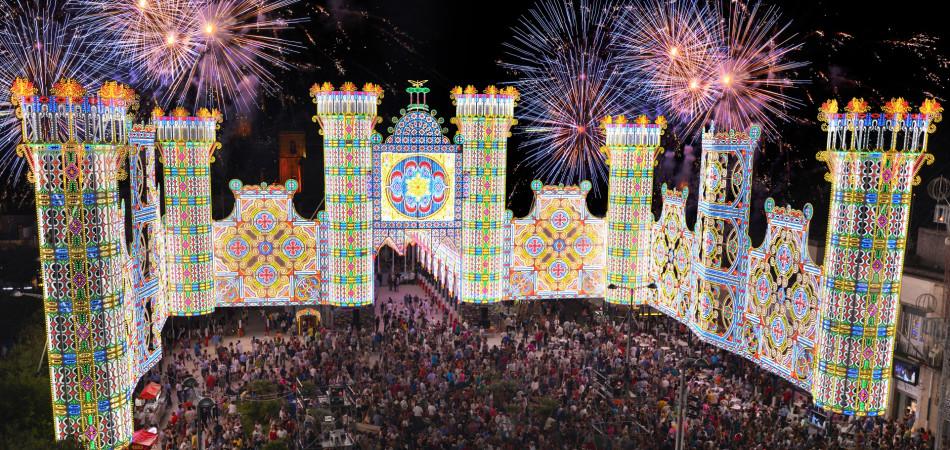 Le mille luci di Scorrano: la festa di Santa Domenica